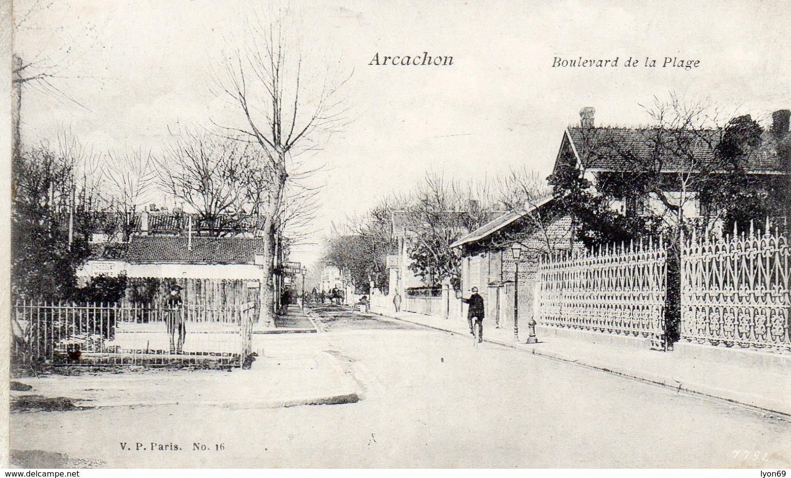 ARCACHON  BOULEVARD DE LA PLAGE - Arcachon