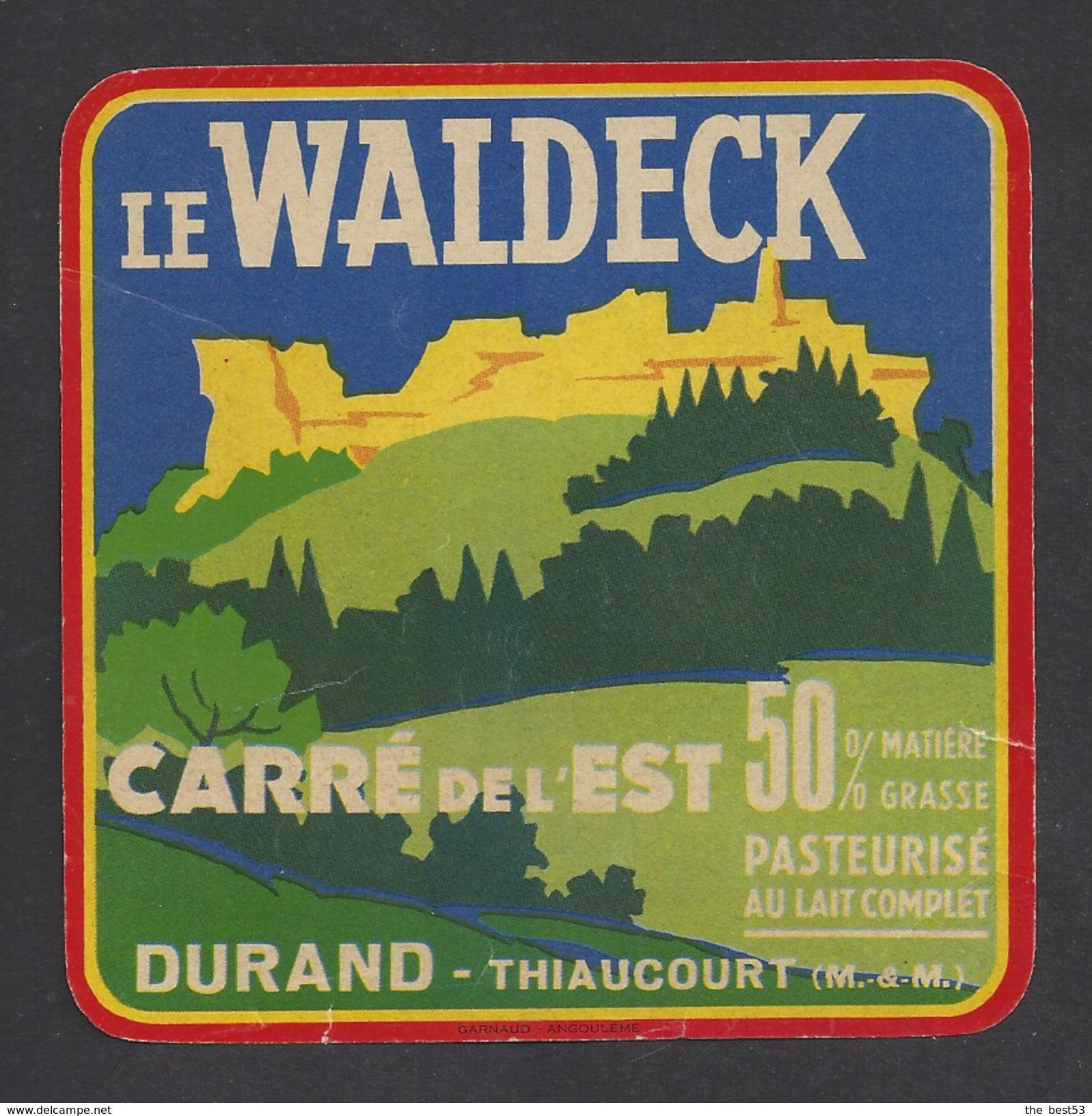 Etiquette De Fromage Carré De L'Est  -  Le Waldeck   -   Laiterie Durand  à  Thiaucourt   (54) - Fromage