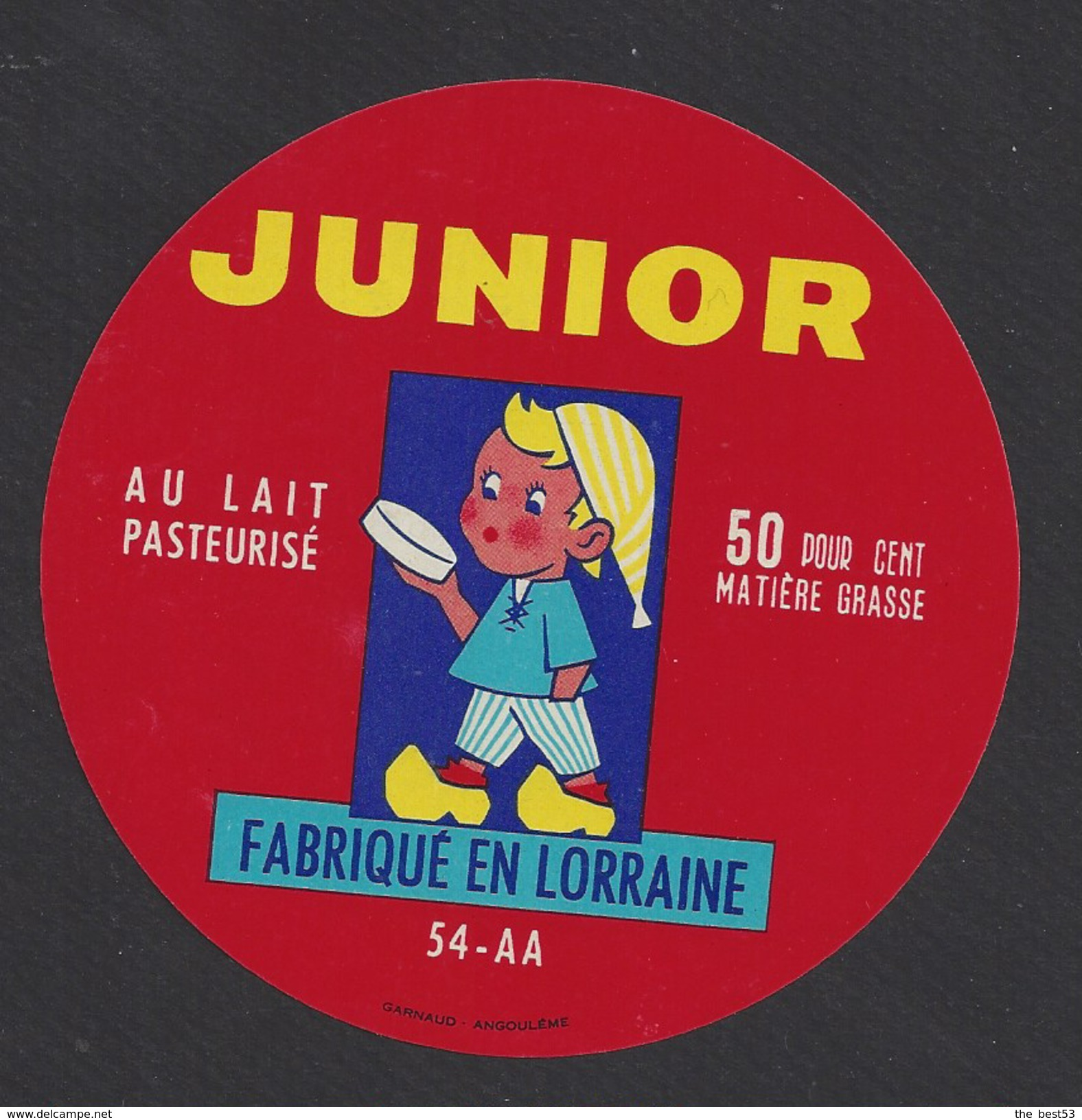 Etiquette De Fromage -  Junior   -   Laiterie Coopérative De Vézelise  (54 AA) - Fromage