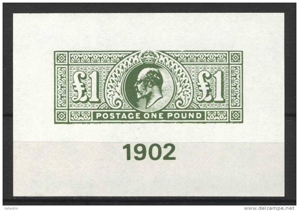Cinderella, Money On Stamps, King Edward VII, One Pound Green (1902) **, MNH - Zonder Classificatie