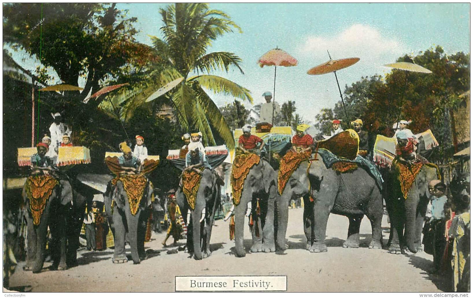 CPA BIRMANIE / ELEPHANT - Myanmar (Burma)