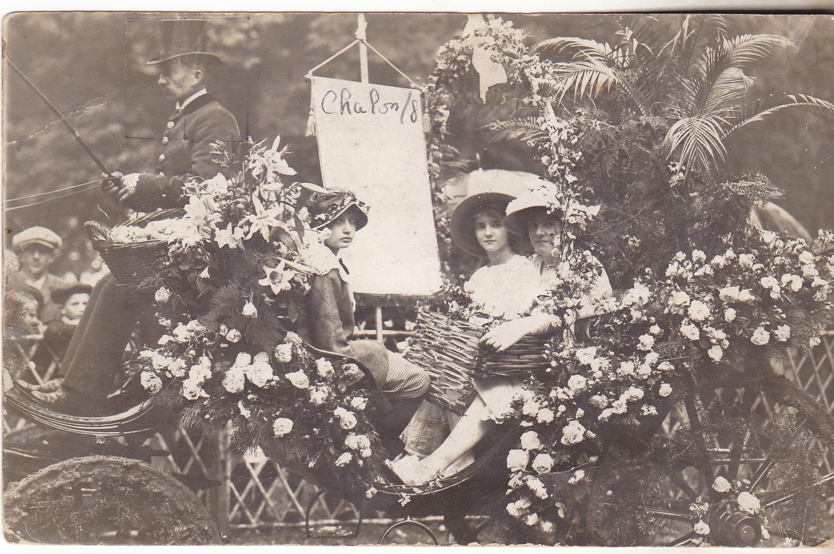 71 Chalon Sur Saone - Carte Photo A Chandioux, Fete Des Fleurs. Sans Indication Date. TB état Non Circulée. - Chalon Sur Saone