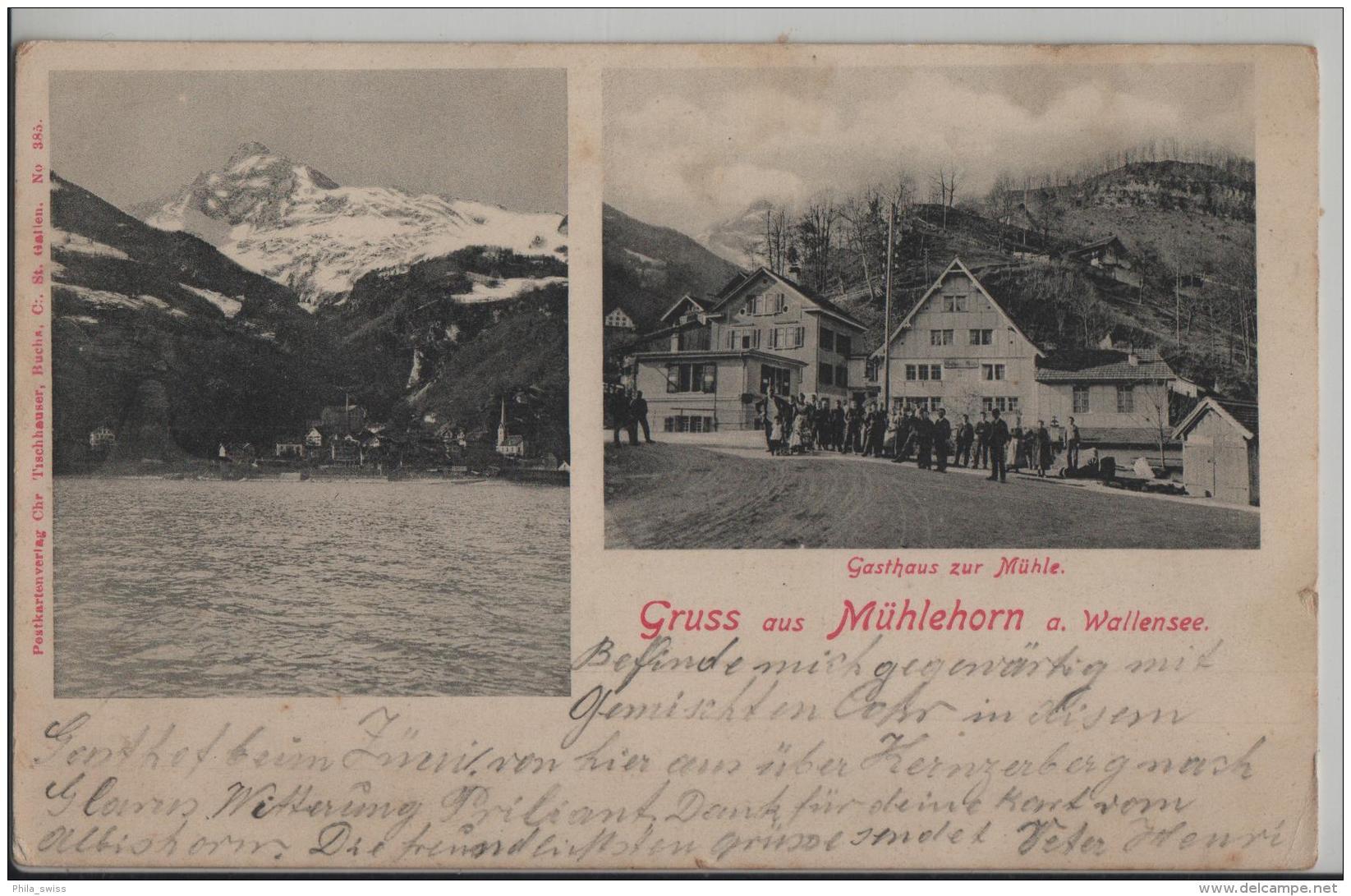 Gruss Aus Mühlehorn A. Walensee - Gasthaus Zur Mühle Animee Belebt - GL Glaris
