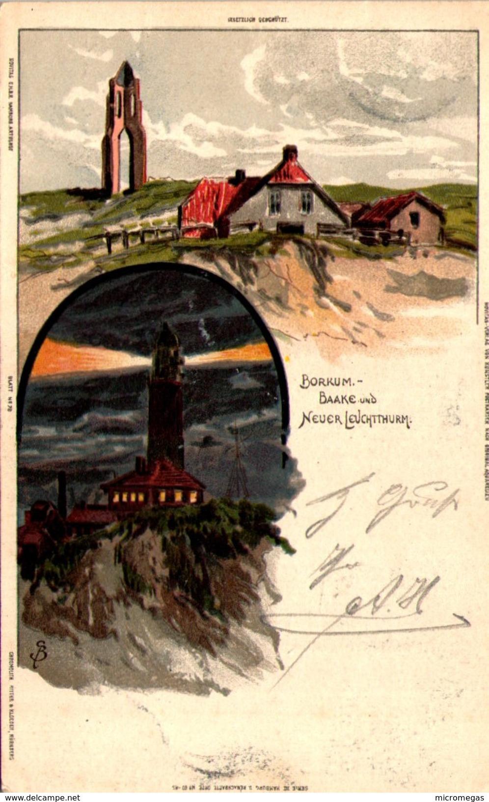 BORKUM - Baake Und Neuer Leuchtthurm - Borkum