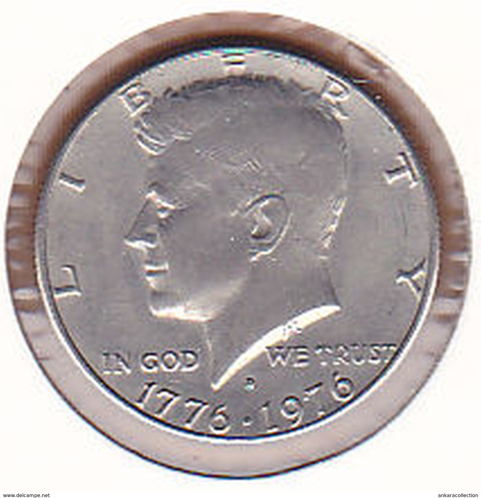 AC - UNITED STATES - HALF DOLLAR 1976 D - DENVERS JOHN F KENNEDY INDEPENDENCE HALL BICENTENNIAL 1776-1976 - Federal Issues