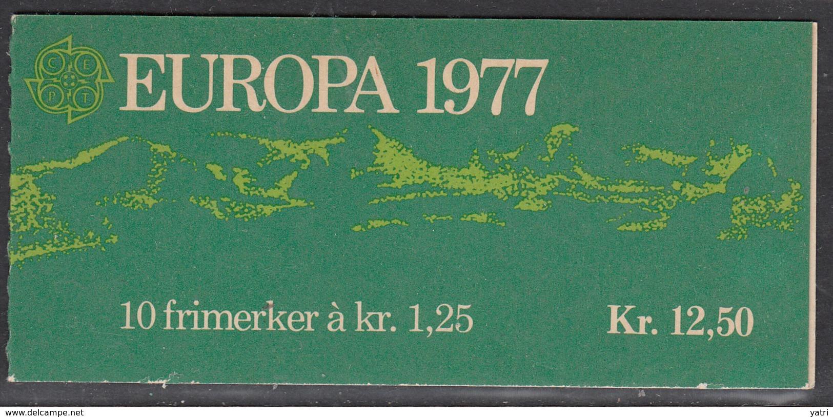 Norvegia - 1977 EUROPA Cept Kr 12.50 BOOKLET MNH ** - Europa-CEPT