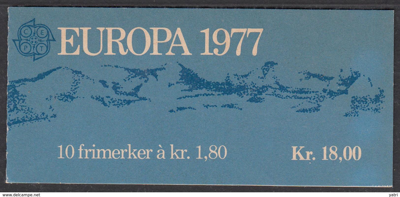 Norvegia - 1977 EUROPA Cept Kr 18.0 BOOKLET ** - 1977