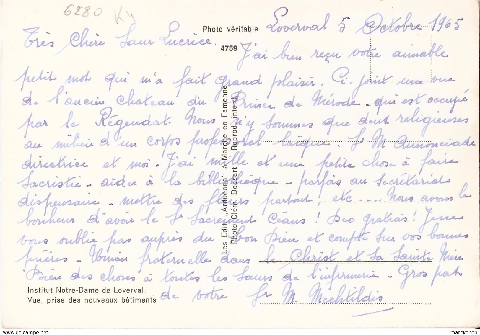 GERPINNES (6280) : Institut ND De Loverval - Pensionnat Pour Jeunes Filles Des Soeurs De Charité De Gand : Vue Générale. - Gerpinnes