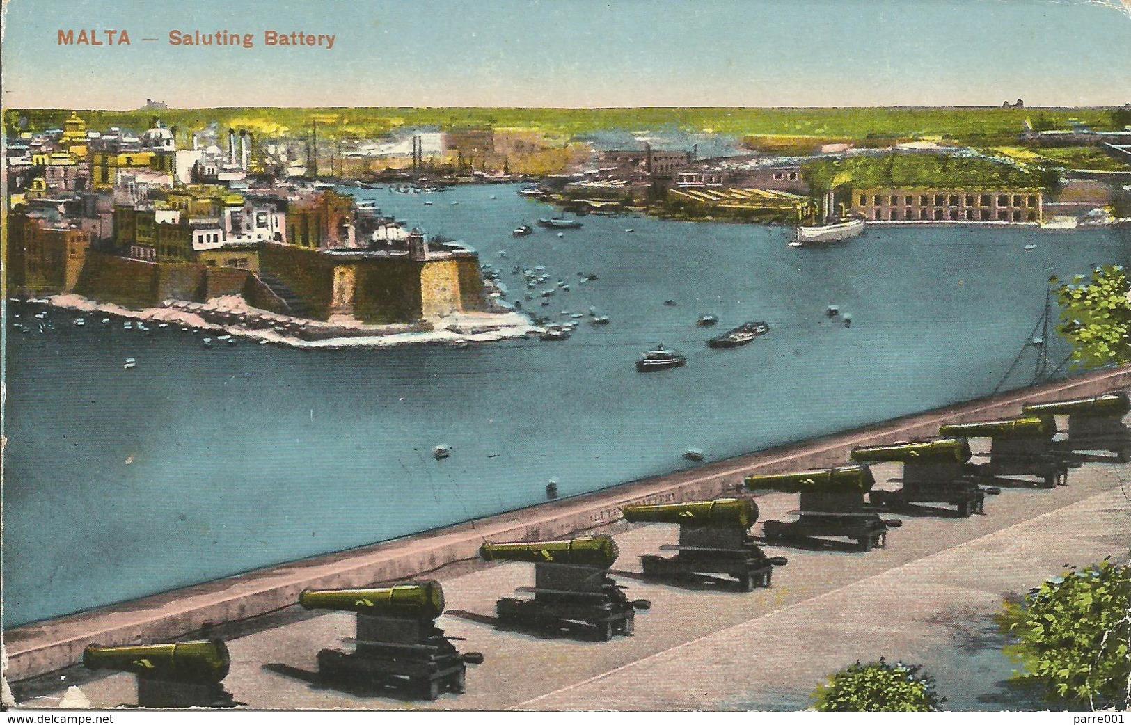 Malta 1914 POW-2 Prisoner Of War Hans Hagenberg POW No. 609 Verdala Barracks To Alexandria, Egypt. Early Use POW-2! - Malta