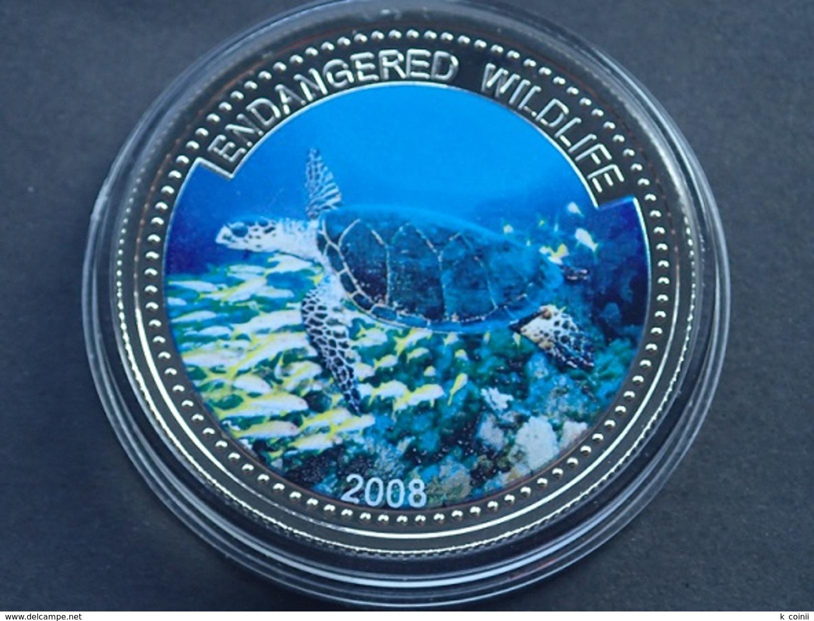 Palau - 1 Dollar 2008 Turtle - UNC - Palau