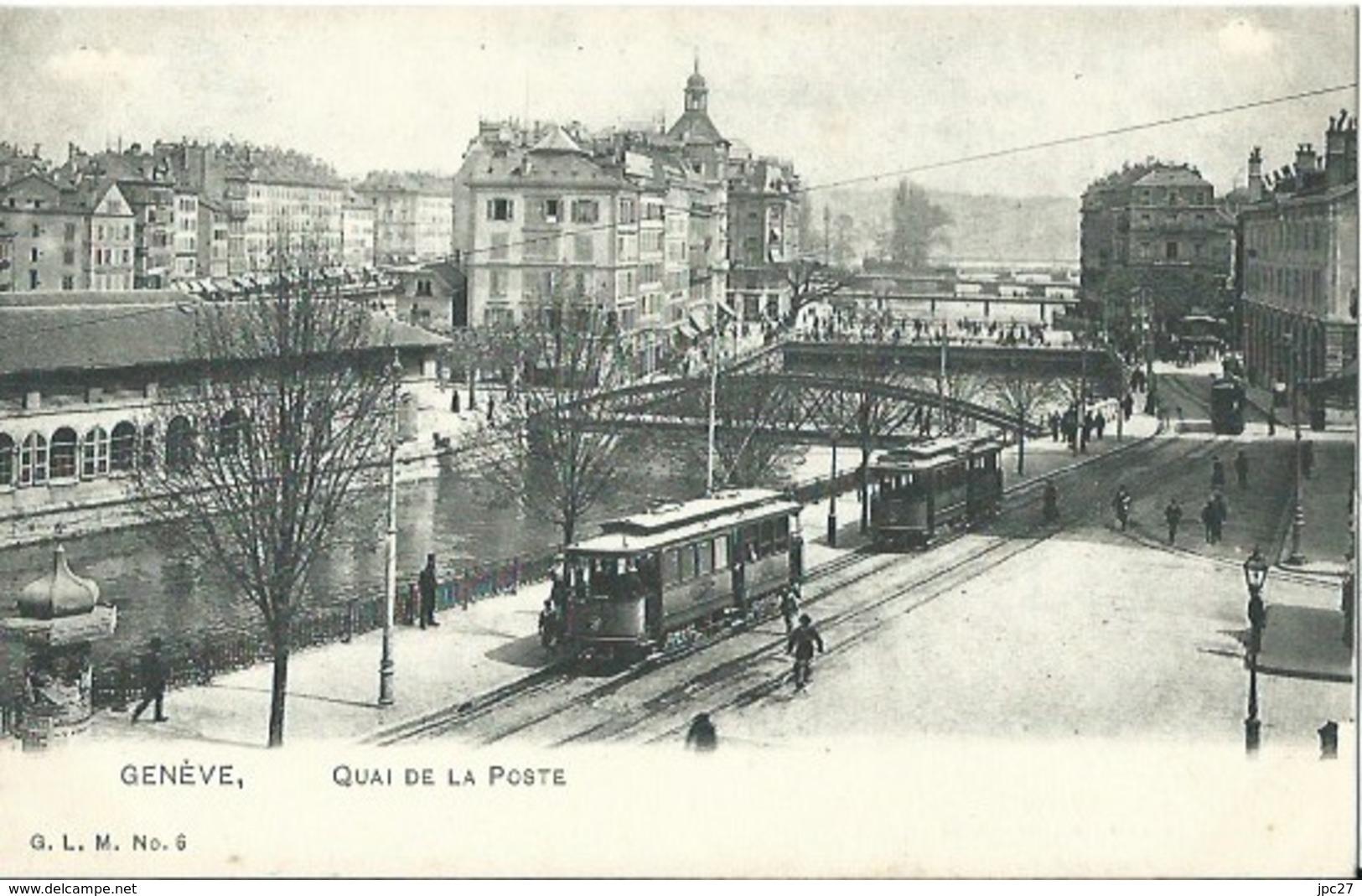 CPA GENEVE Quai De La Poste - GE Geneva