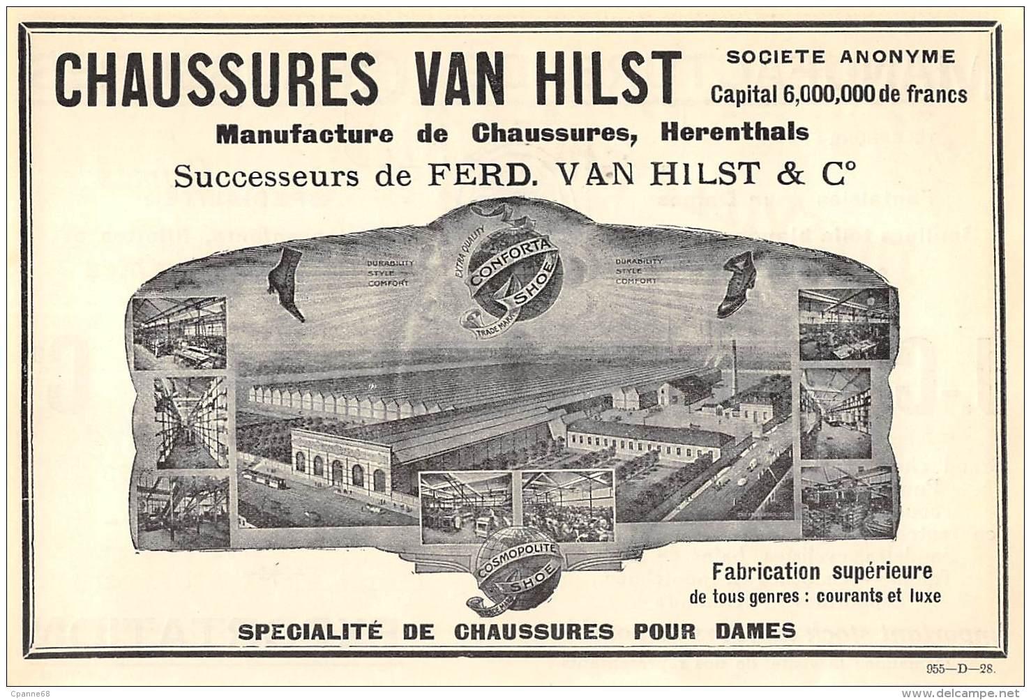 1928 - HERENTALS - Manufacture De Chaussures VAN HILST - No Postcard - Publicités