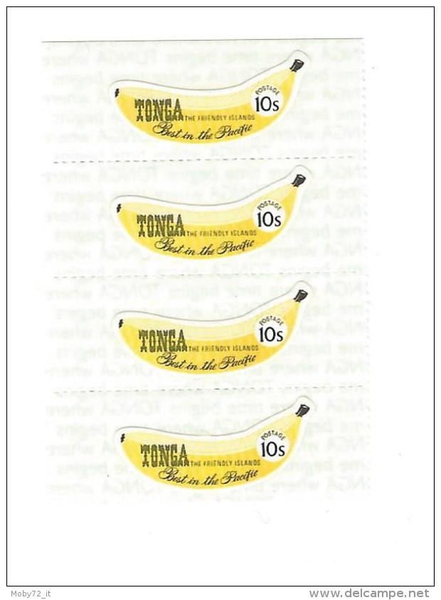 Tonga - Banana - Strip Of 4 - Tonga (1970-...)