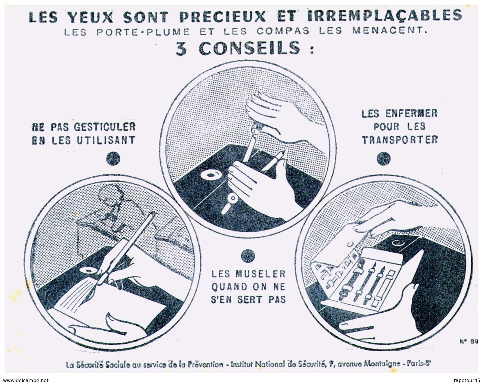 S S S/Buvard Sécurité Sociale Prévention (N= 3) - Buvards, Protège-cahiers Illustrés