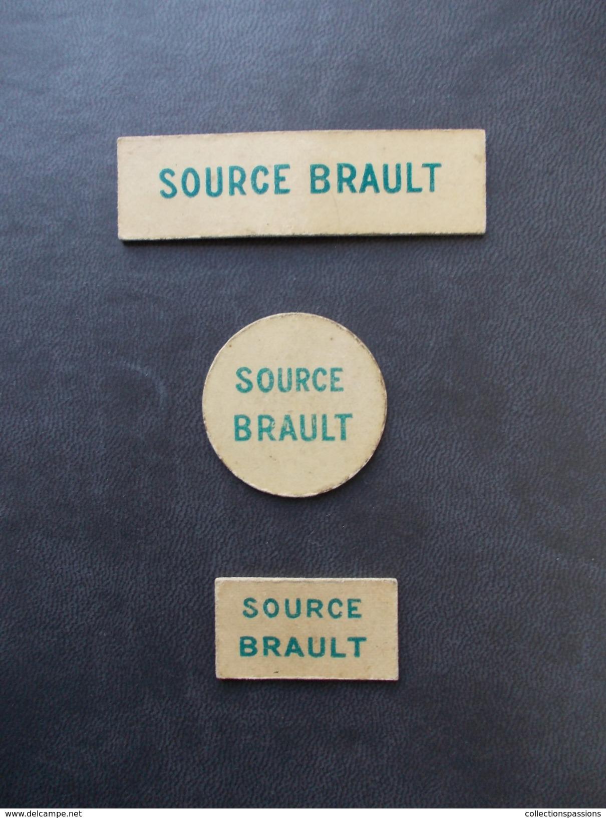 - Lot De 3 Jetons De Jeux. Source Brault. Limonade Brault - Sail Sous Couzan - - Spielkarten