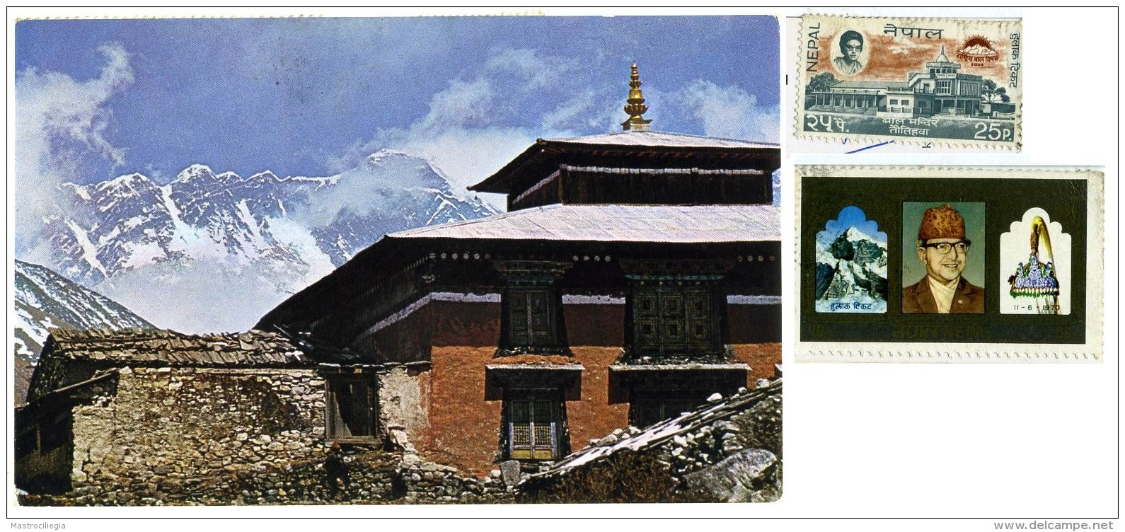 NEPAL  Mt.Everest From Thyangboc Monastery East Nepal  Nice Stamps - Nepal