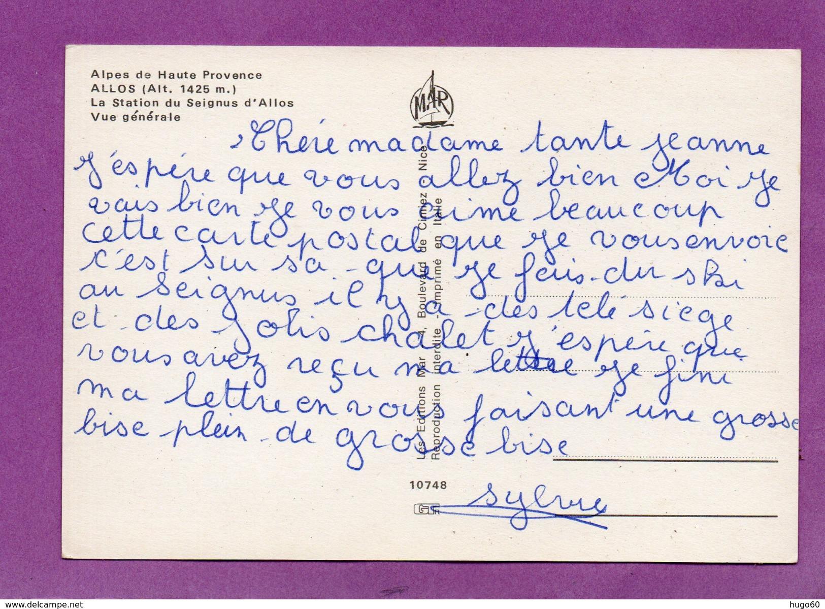 04 - ALLOS - La Station Du Seignus D'Allos - Vue Générale - France