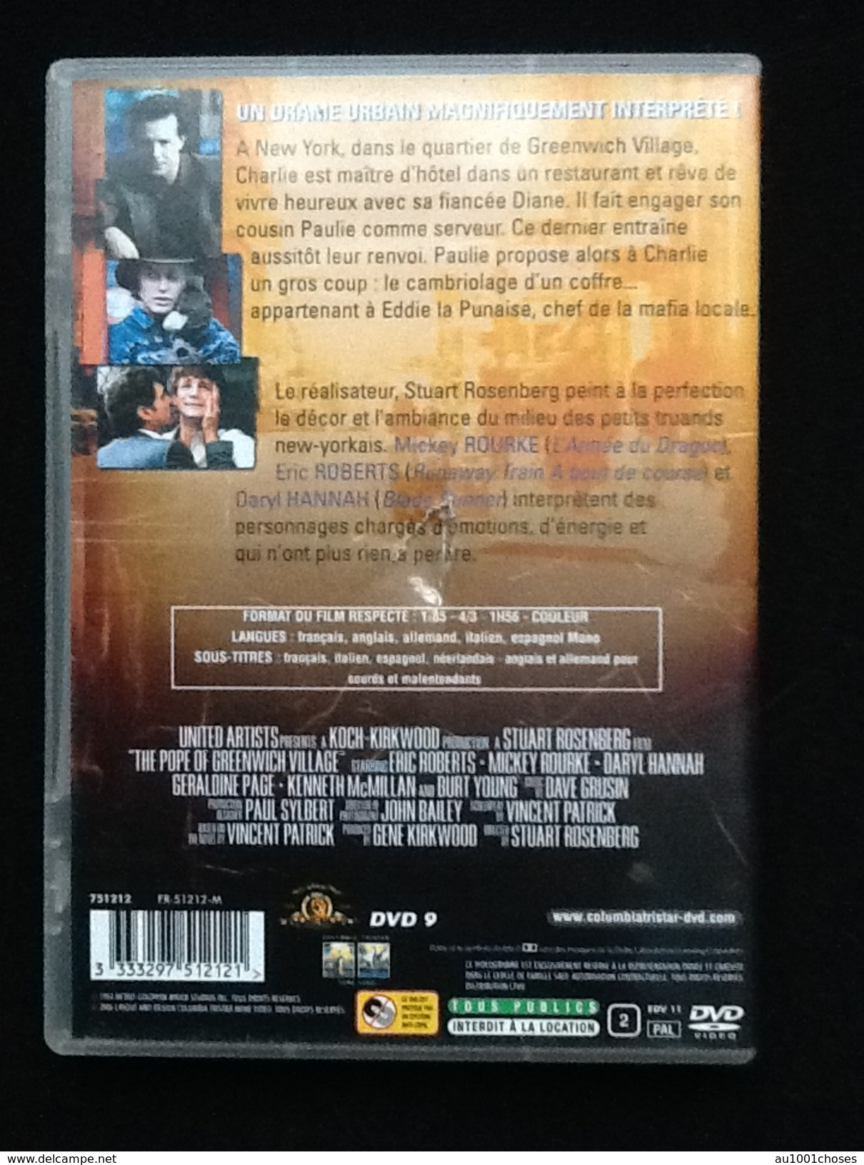 DVD Le Pape De Greenwich Village - Policiers