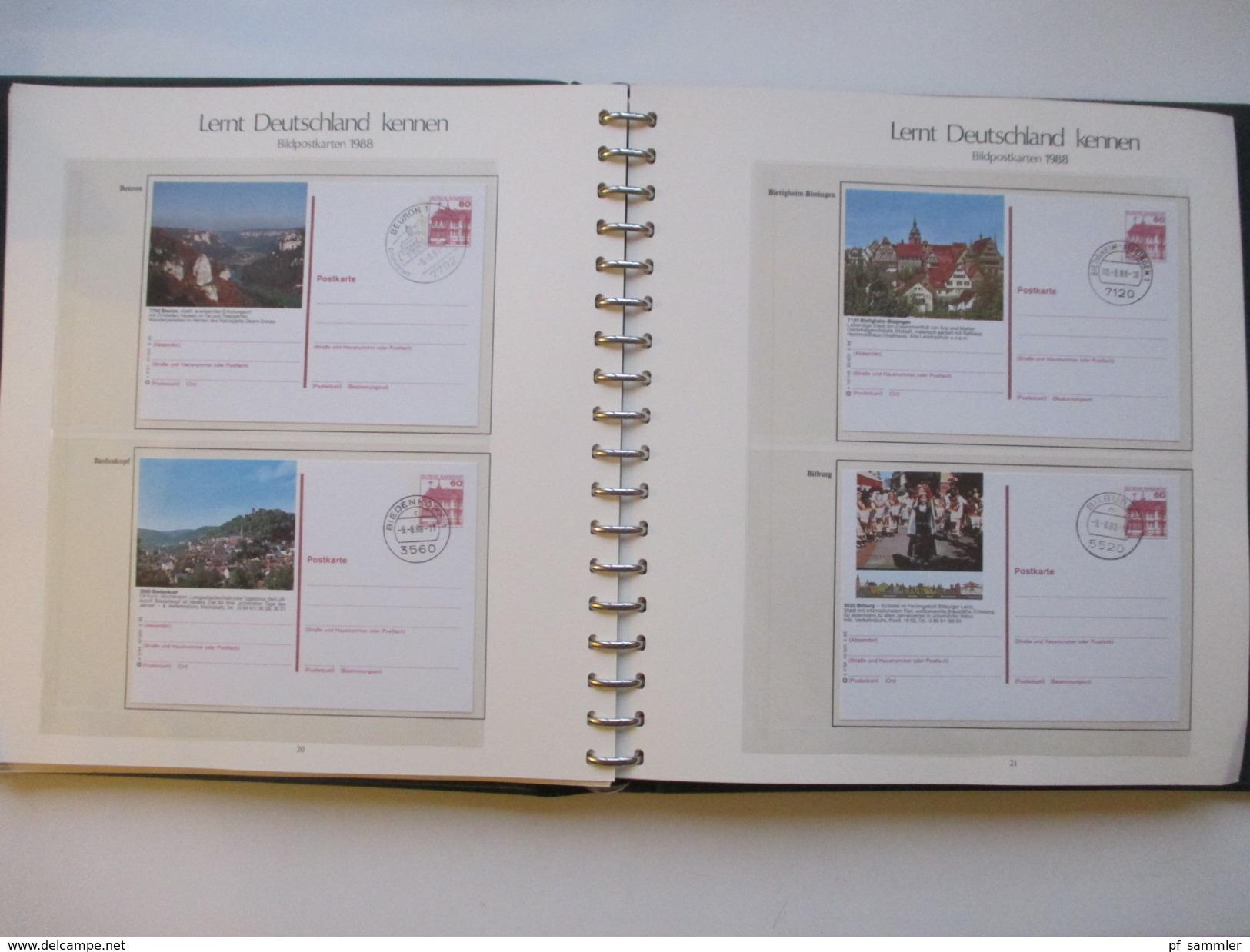 Ganzsachen / Bildpostkarten Lernt Deutschland Kennen 1977 - 1998 Mit 597 Karten In 5 VD Alben. Aboware Von Sieger! - Briefmarken