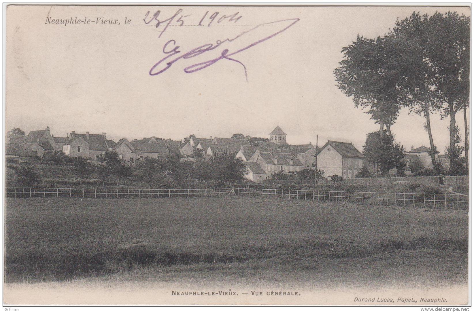NEAUPHLE LE VIEUX VUE GEBERALE PRECURSEUR 1904 TBE - France