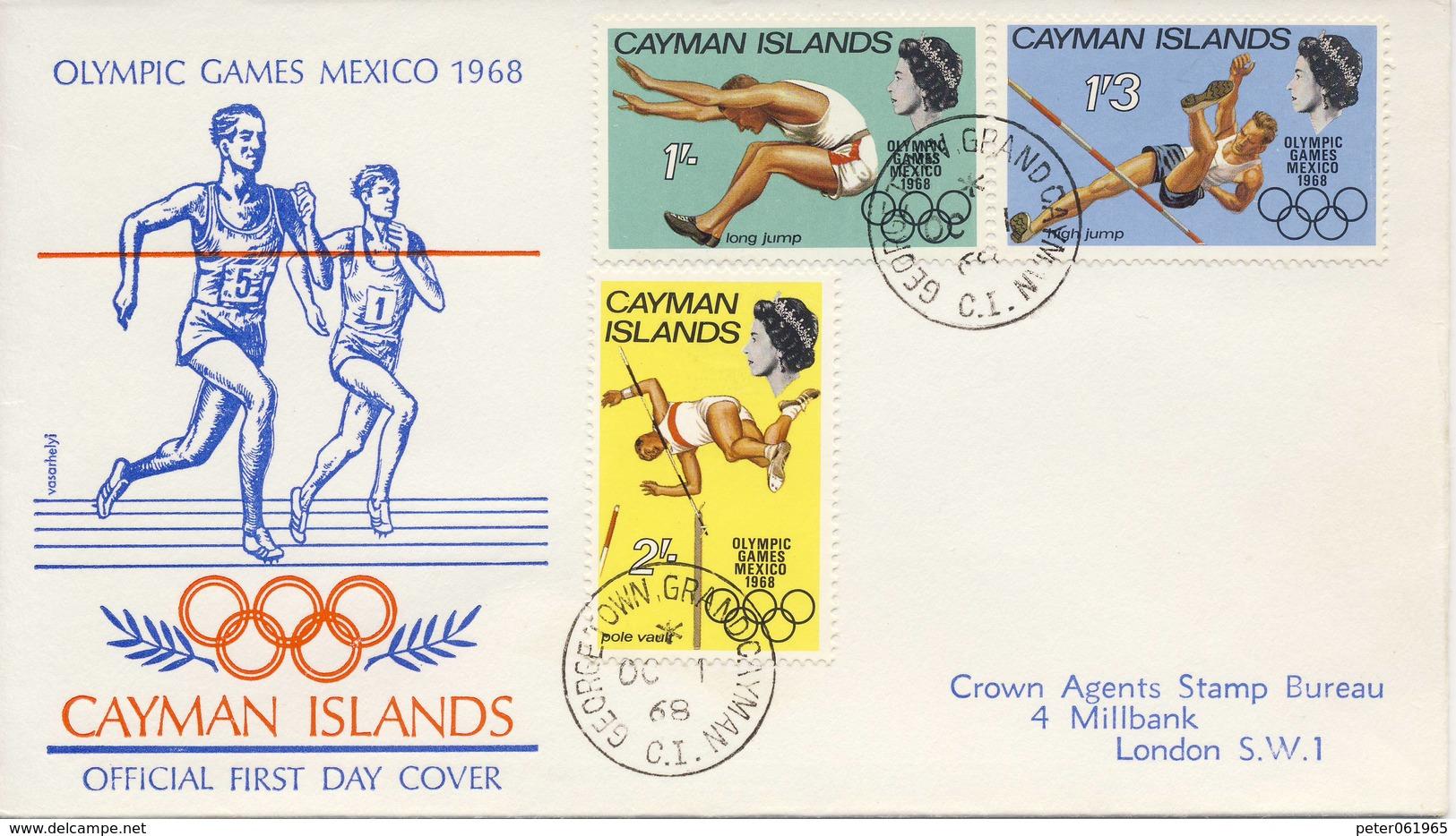 O.S. Mexico-Stad: FDC Caymaneilanden - 1968 - Summer 1968: Mexico City