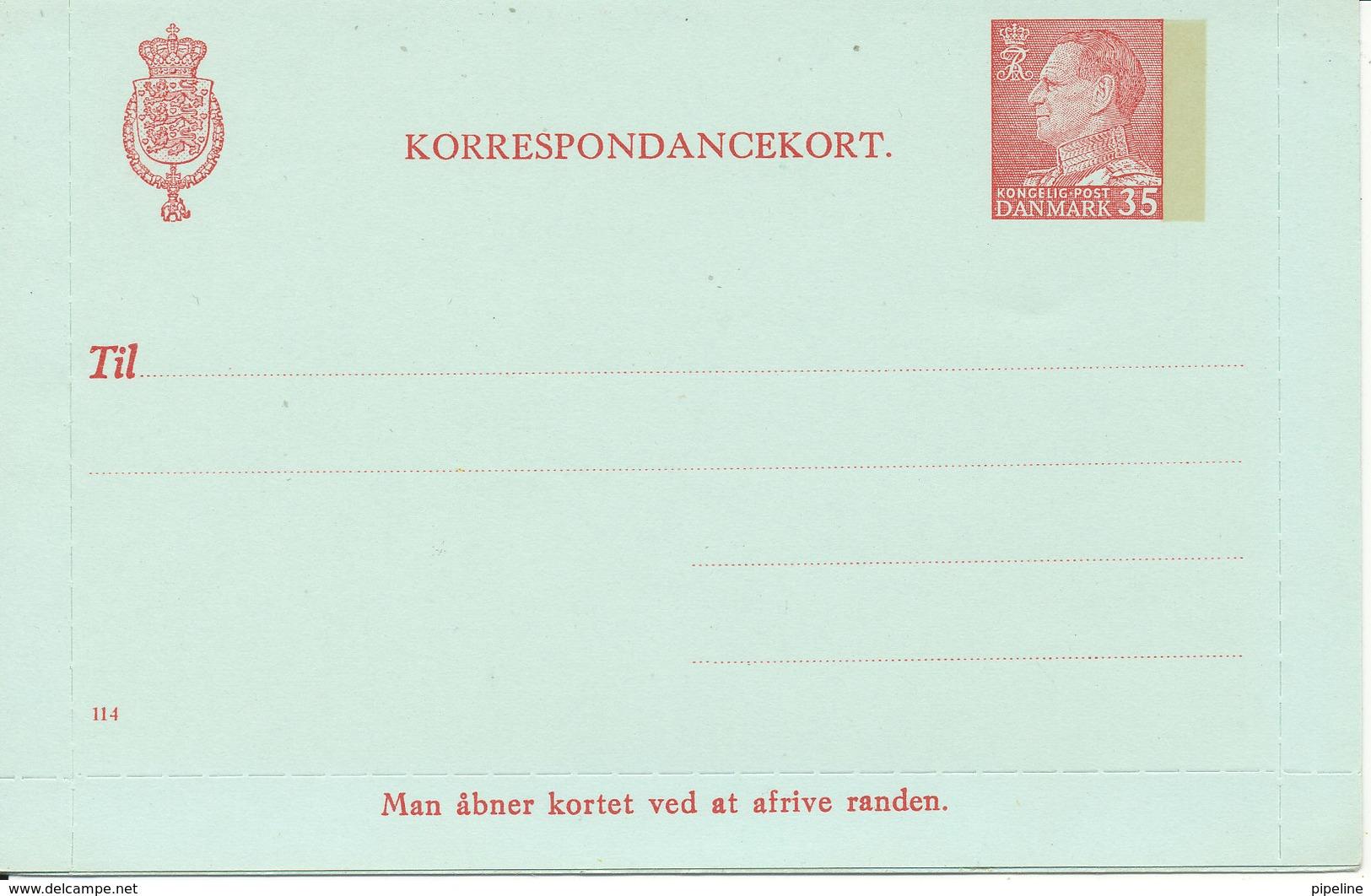 Denmark Correspondance Card Nr. 114 In Mint Condition - Entiers Postaux