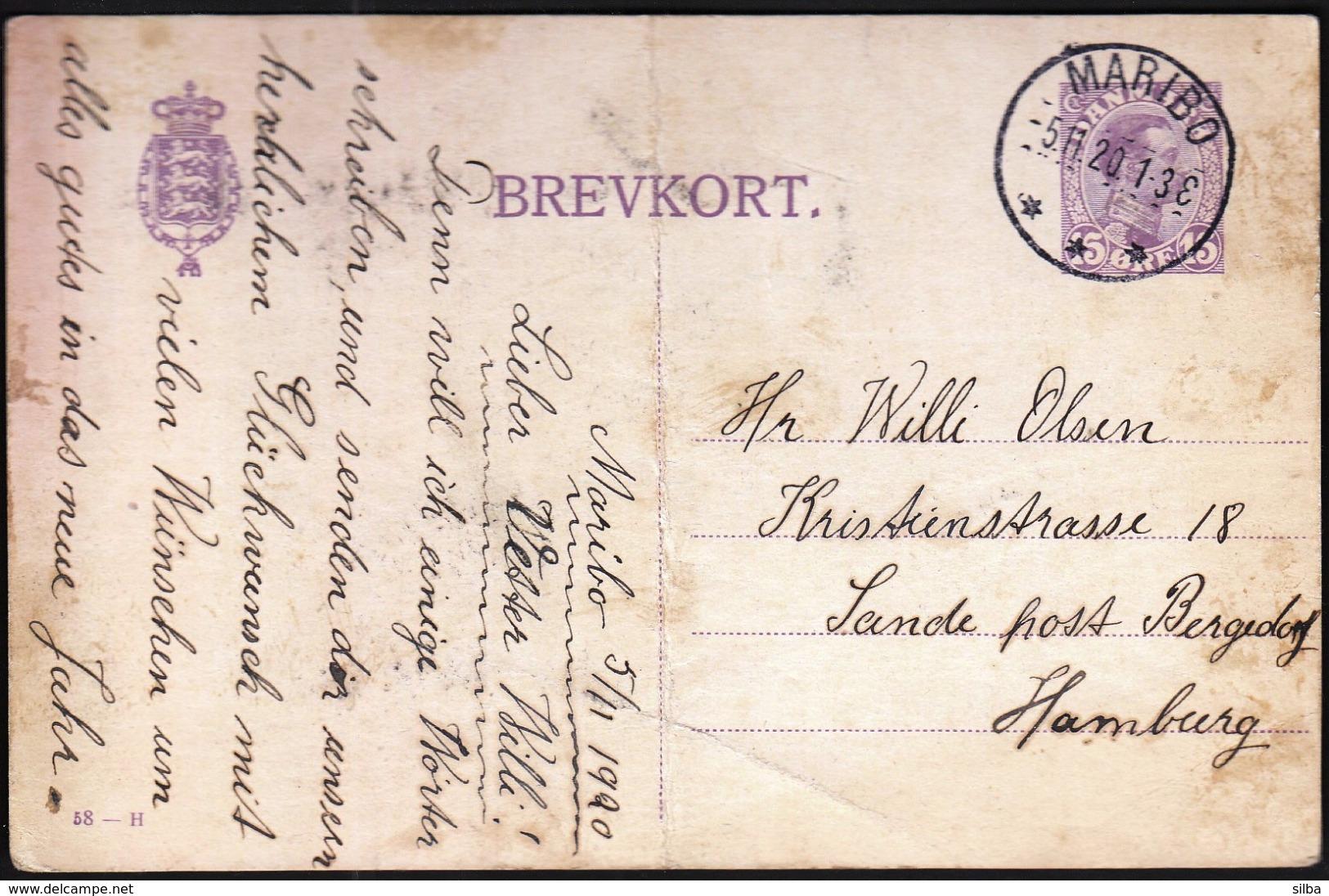 Denmark Maribo 1920 / Postal Stationery - Enteros Postales
