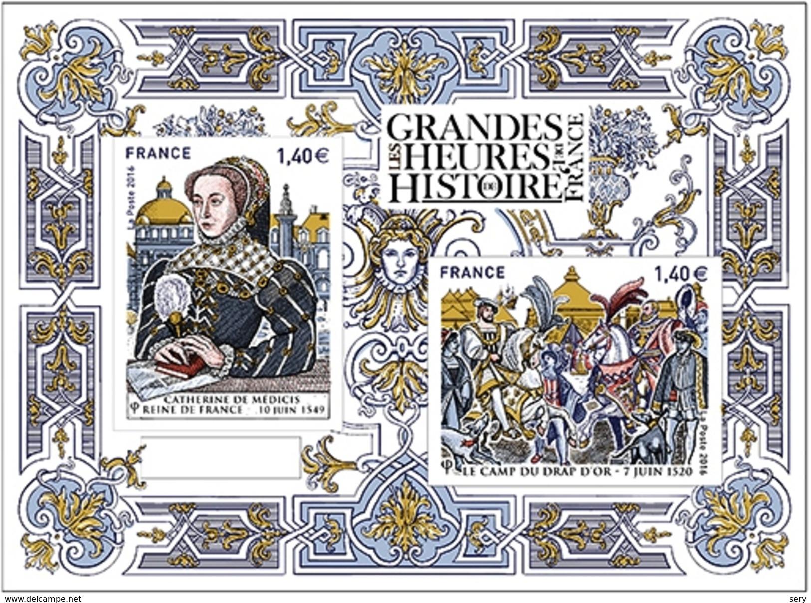France  2016  Bloc MNH  Les Grandes Heures De L'Histoire Catherine De Medicis Reine De France - Storia