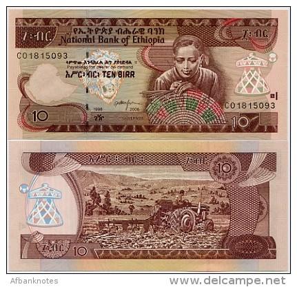 ETHIOPIA        10 Birr      P-48d       1998-2006       UNC - Ethiopie