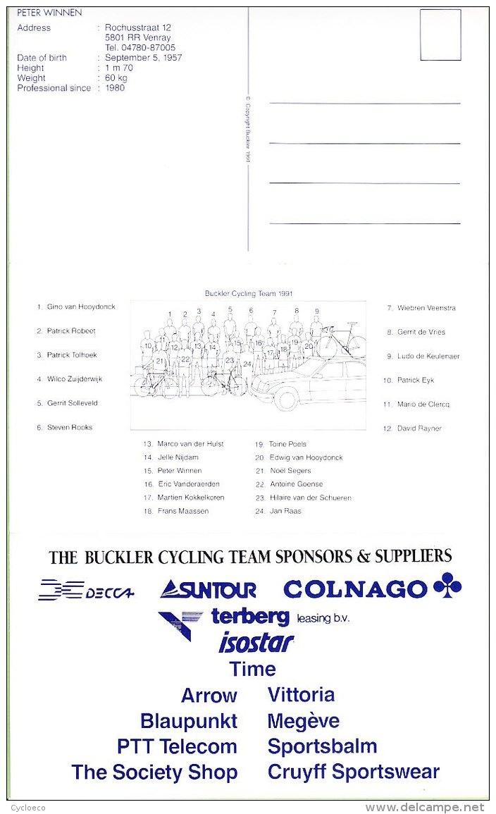 Wiebren VEENSTRA . 3 Scans. Cyclisme.  Buckler 1991 - Radsport