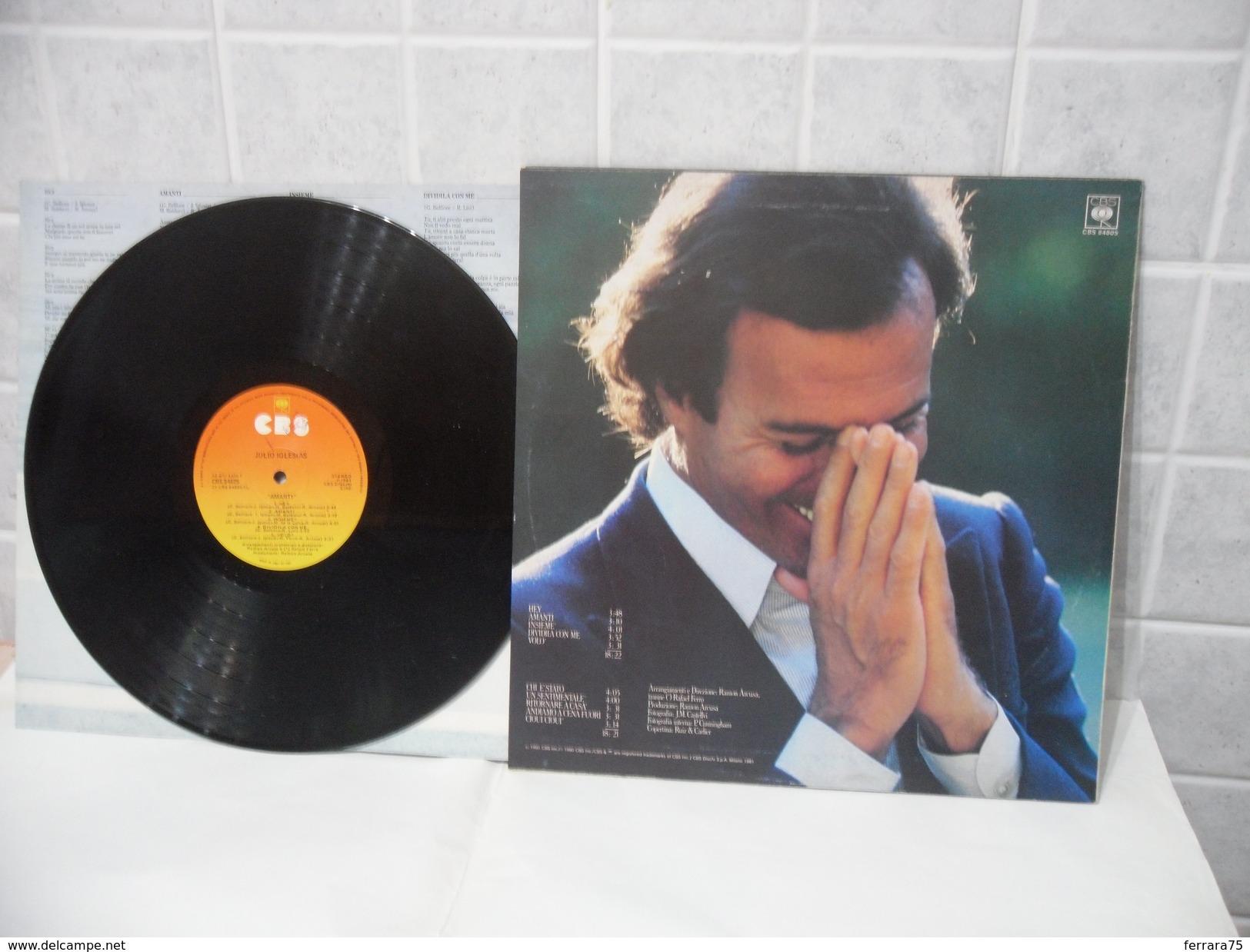 DISCO LP 33 GIRI JULIO IGLESIAS AMANTI 1980. - Discos De Vinilo