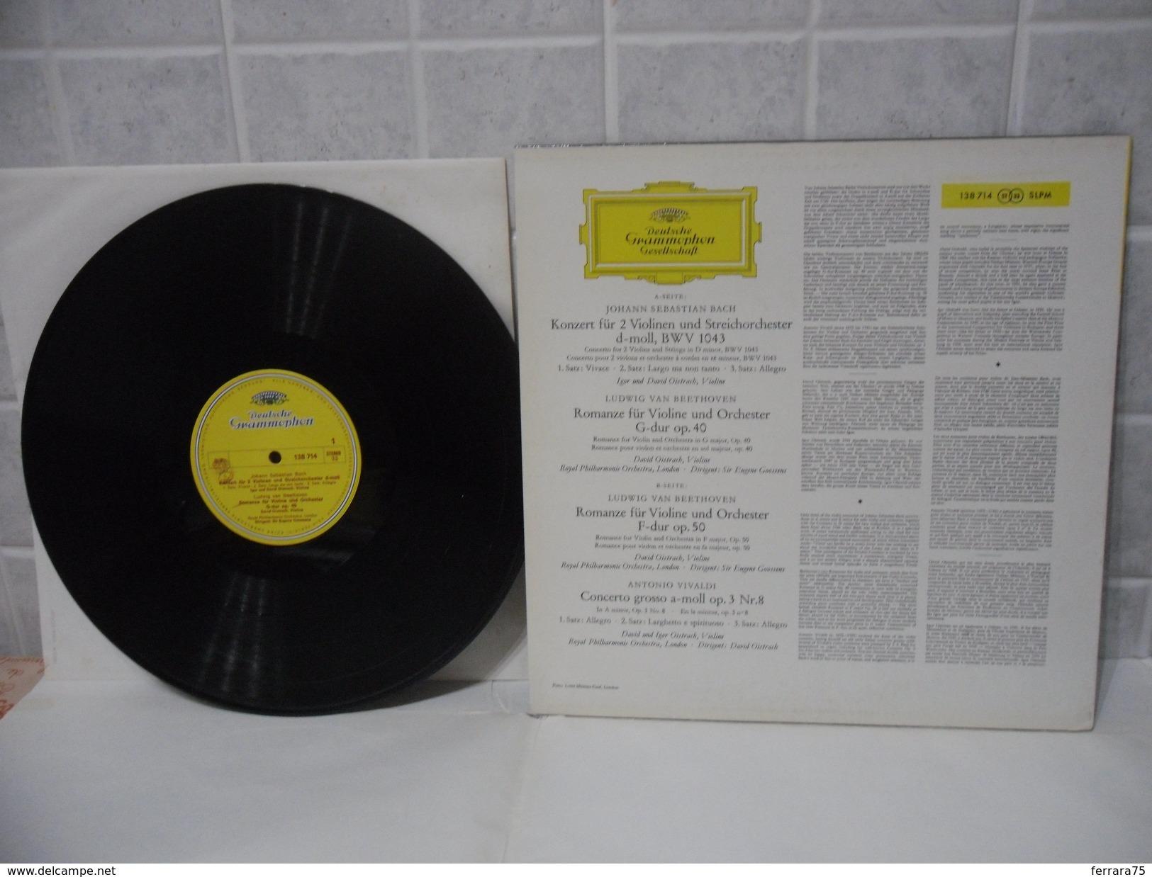 DISCO LP 33 GIRI DEUTSCHE GRAMMOPHON GESELLSCHAFT-DAVID UND IGOR OISTRACH. - Discos De Vinilo
