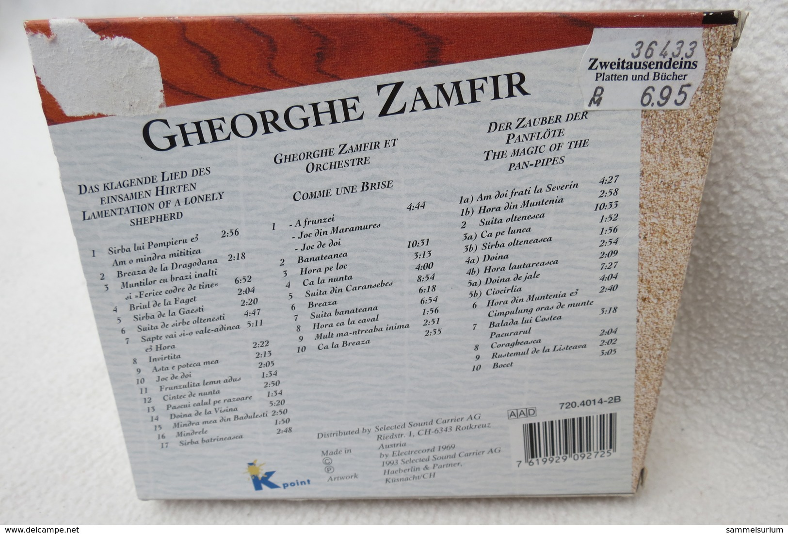 """3 CD-Set """"Gheorghe Zamfir"""" Der Zauber Der Panflöte - Hit-Compilations"""