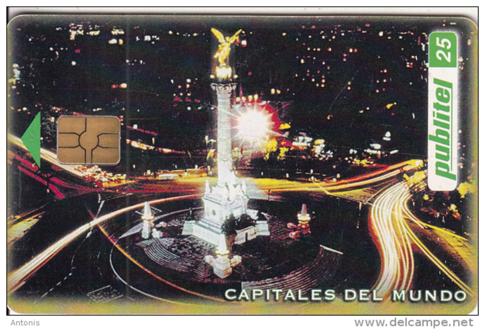 EL SALVADOR -  Mexico City/Plaza La Reforma, Capitals Of The World, Chip GEM 3.1, Used - El Salvador