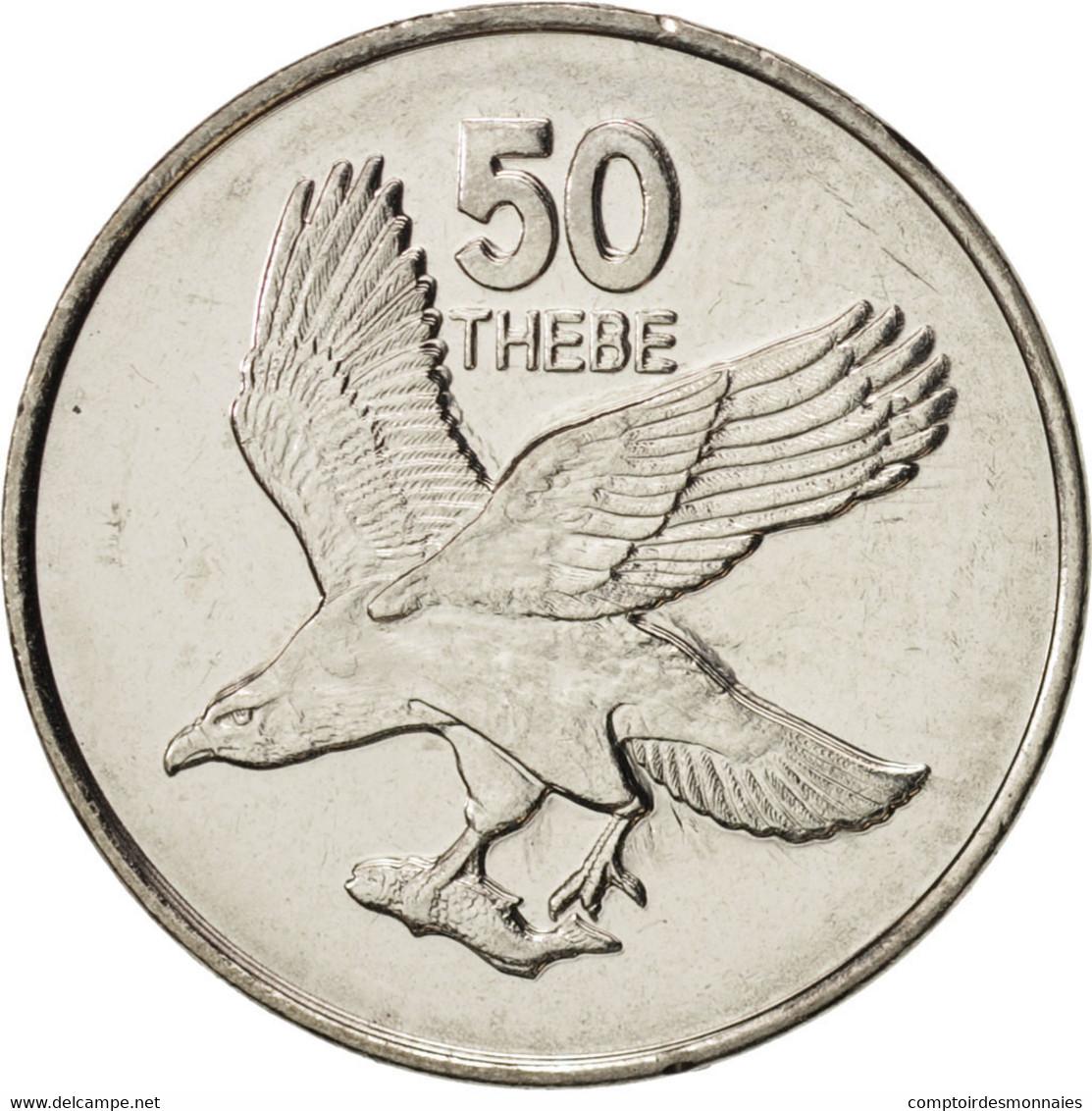 Botswana, 50 Thebe, 2001, British Royal Mint, SPL+, Nickel Plated Steel, KM:29 - Botswana
