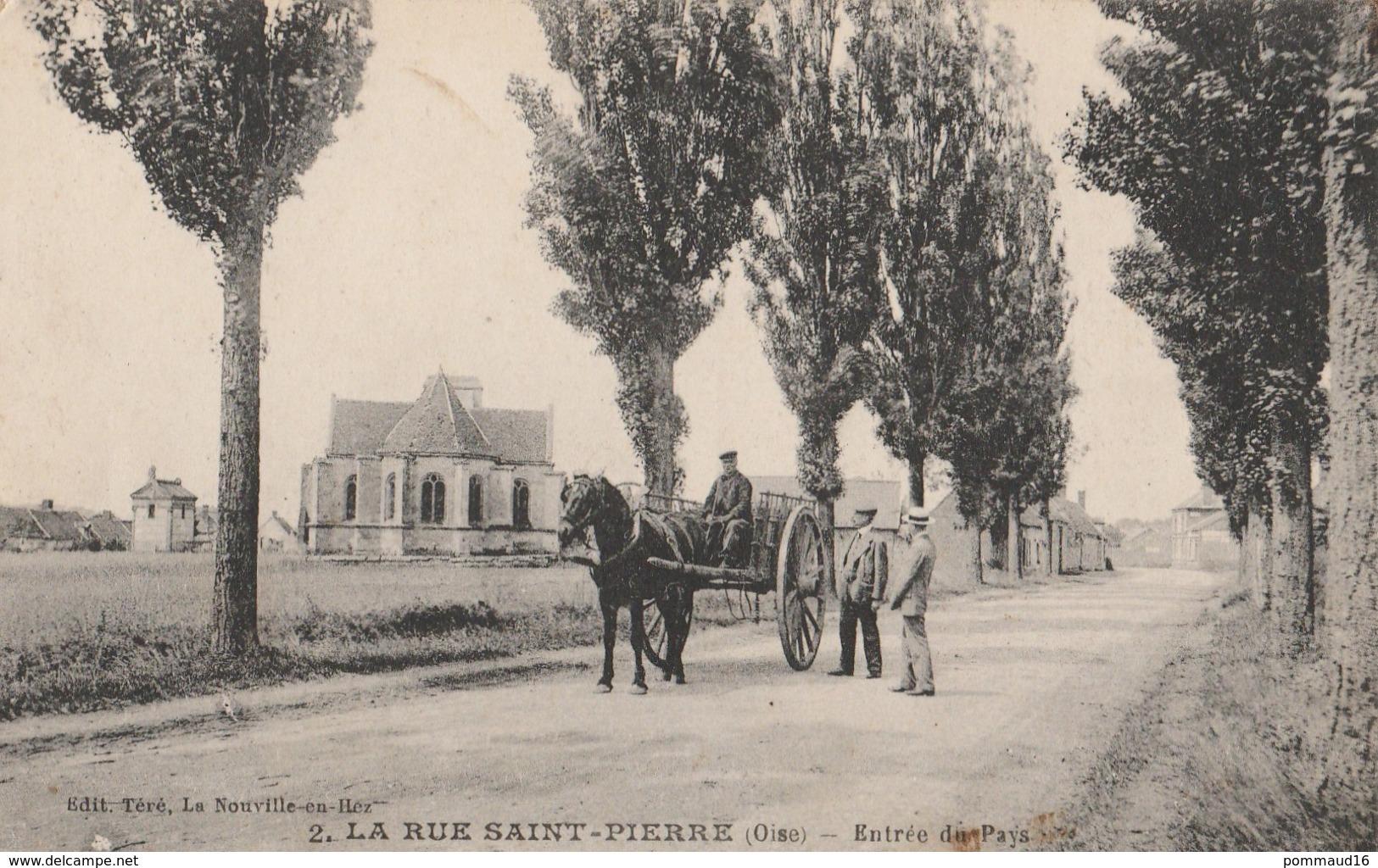 CPA La Rue Saint-Pierre Entrée Du Pays - Animée - France