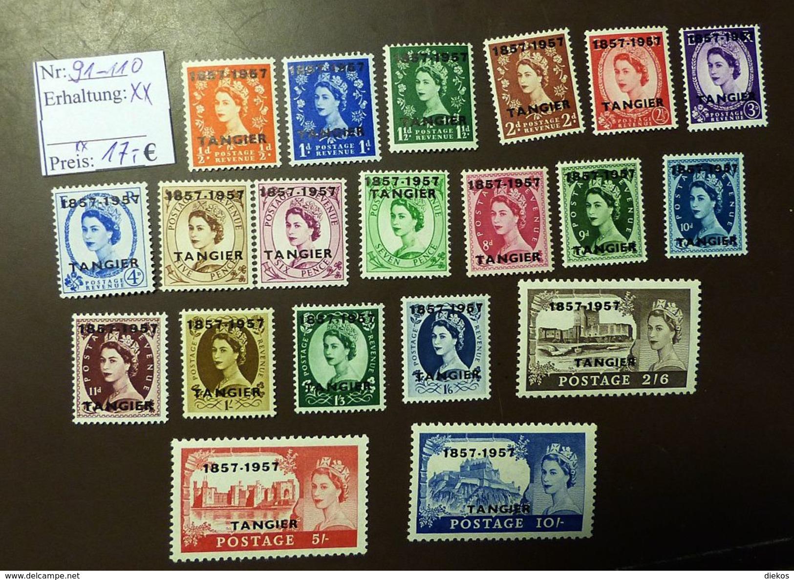 Tanger Michel  91 -110   ** MNH    #4684 - Oficinas En  Marruecos / Tanger : (...-1958