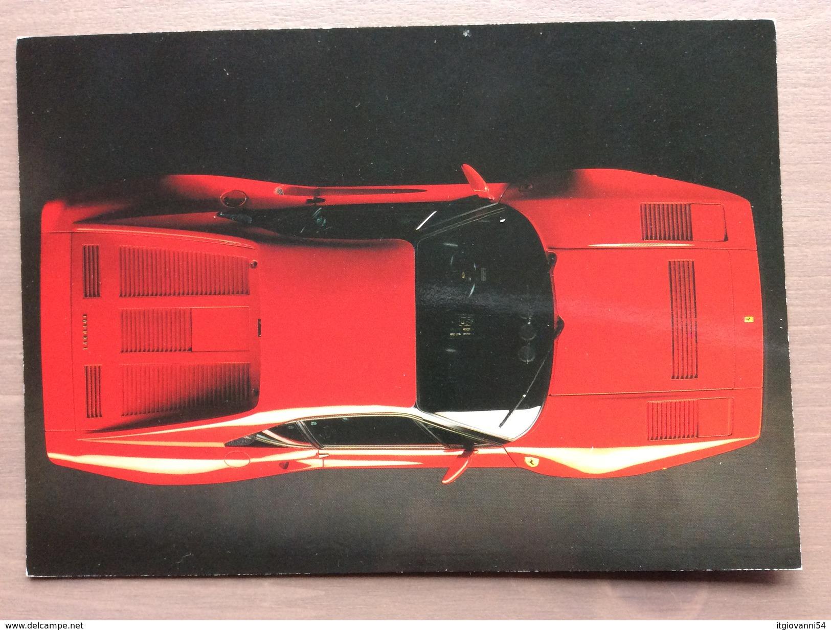 Cartolina Ferrari GTO Con Annullo Sul Retro Trofeo Enzo Ferrari Int. Giov. Calcio Maranello 1-4-1991 - Grand Prix / F1
