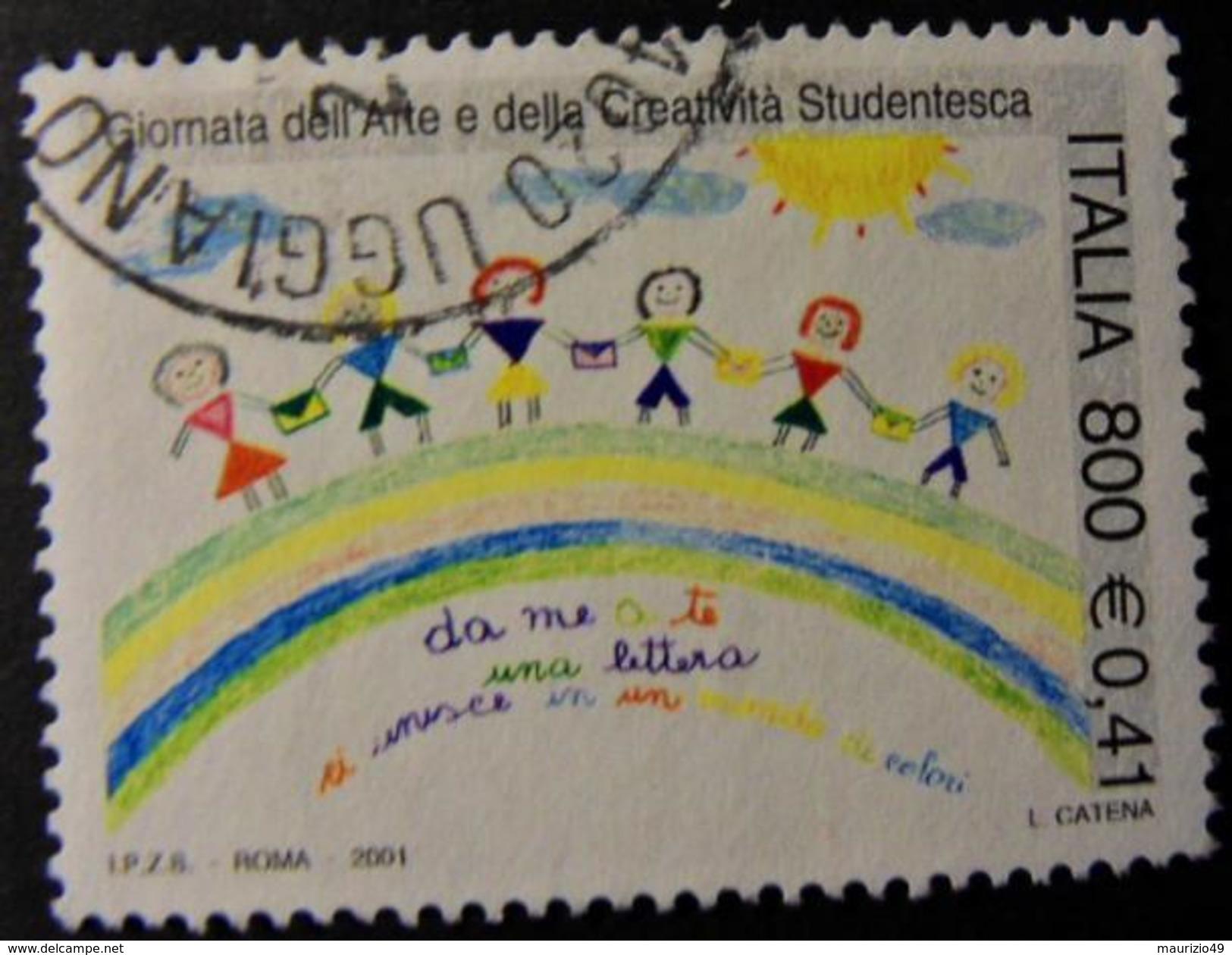 2001 Nr 2545 Giornata Dell'arte E Della Creatività Studentesca - 800 L. - 0,41 € - Vedi Foto - 6. 1946-.. Repubblica