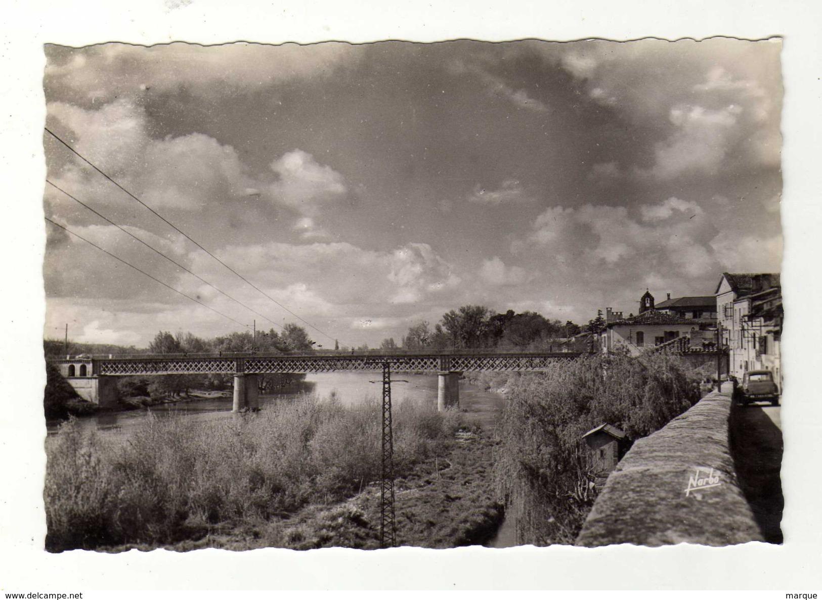Cpsm N° 11 MURET La Garonne Le Pont - Muret