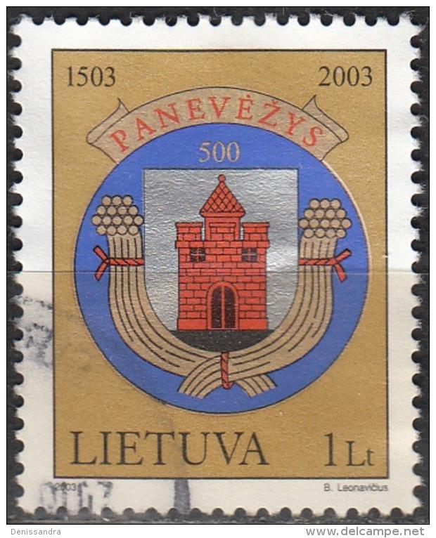 Lietuva 2003 Michel 828 O Cote (2013) 1.00 Euro Armoirie Panevèzys Cachet Rond - Lituanie