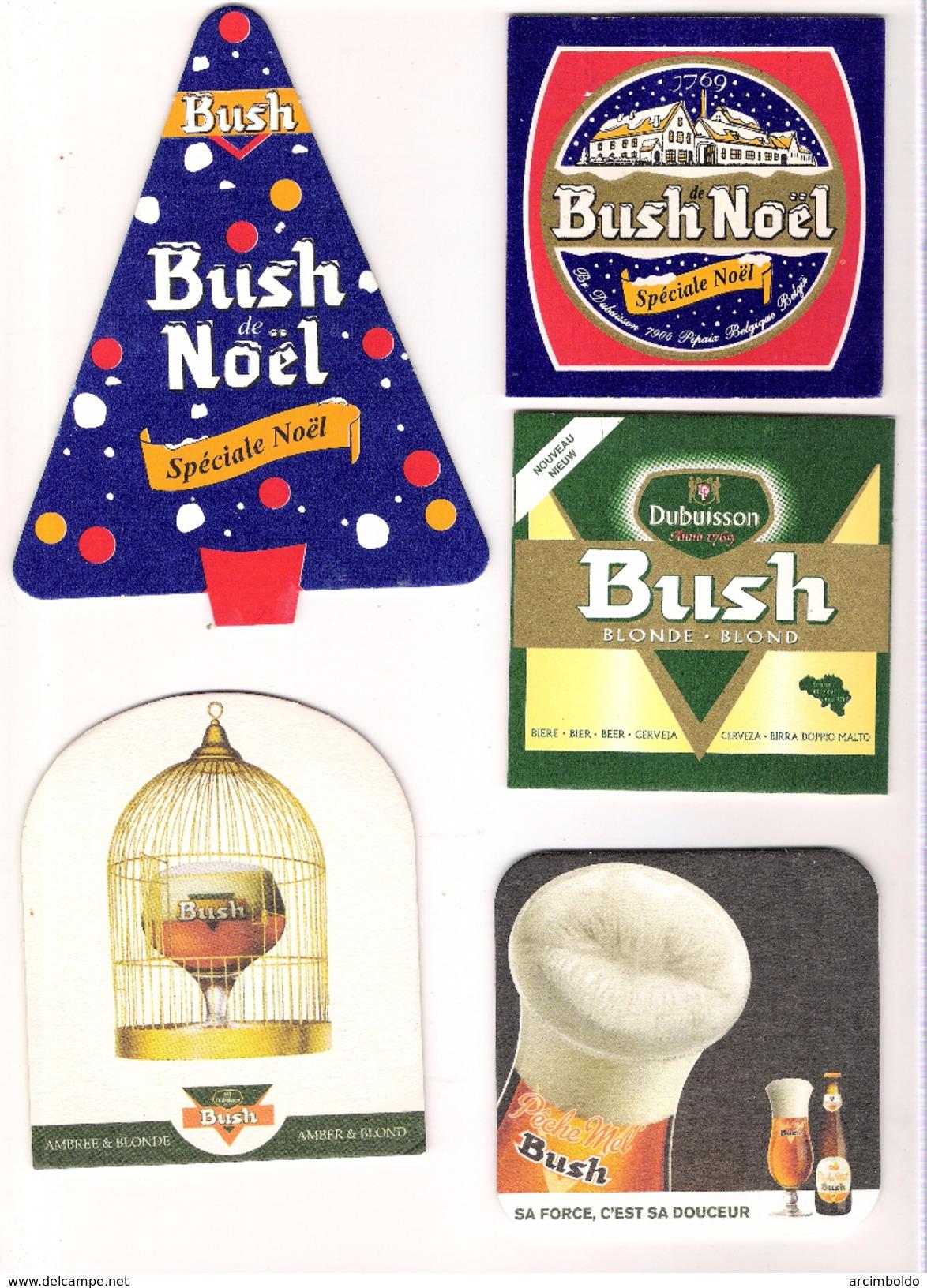 Lot De 19 Sous-bocks Dubuisson - Tous Différents (Bush Noël, Blonde, Pêche Mel, 7%, Surfine, Cuvée Des Trolls, Ambrée) - Sous-bocks