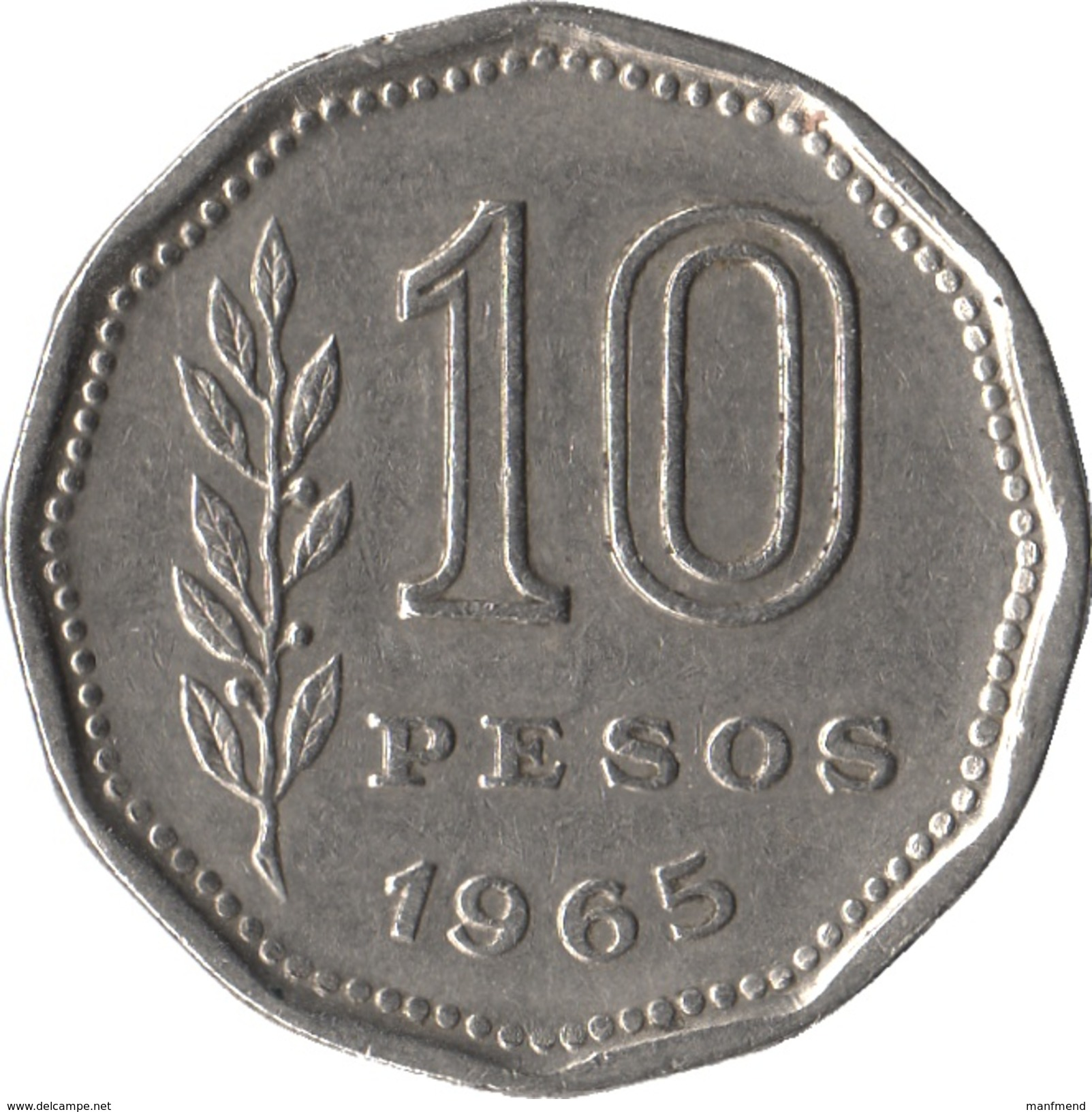 Argentina - 1965 - 10 Pesos - KM 60 - VF - Argentine