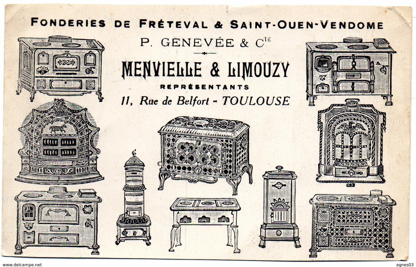 Fonderies De Freteval Et Saint Ouen Vendome   - Cuisinieres Et Poeles - Publicité