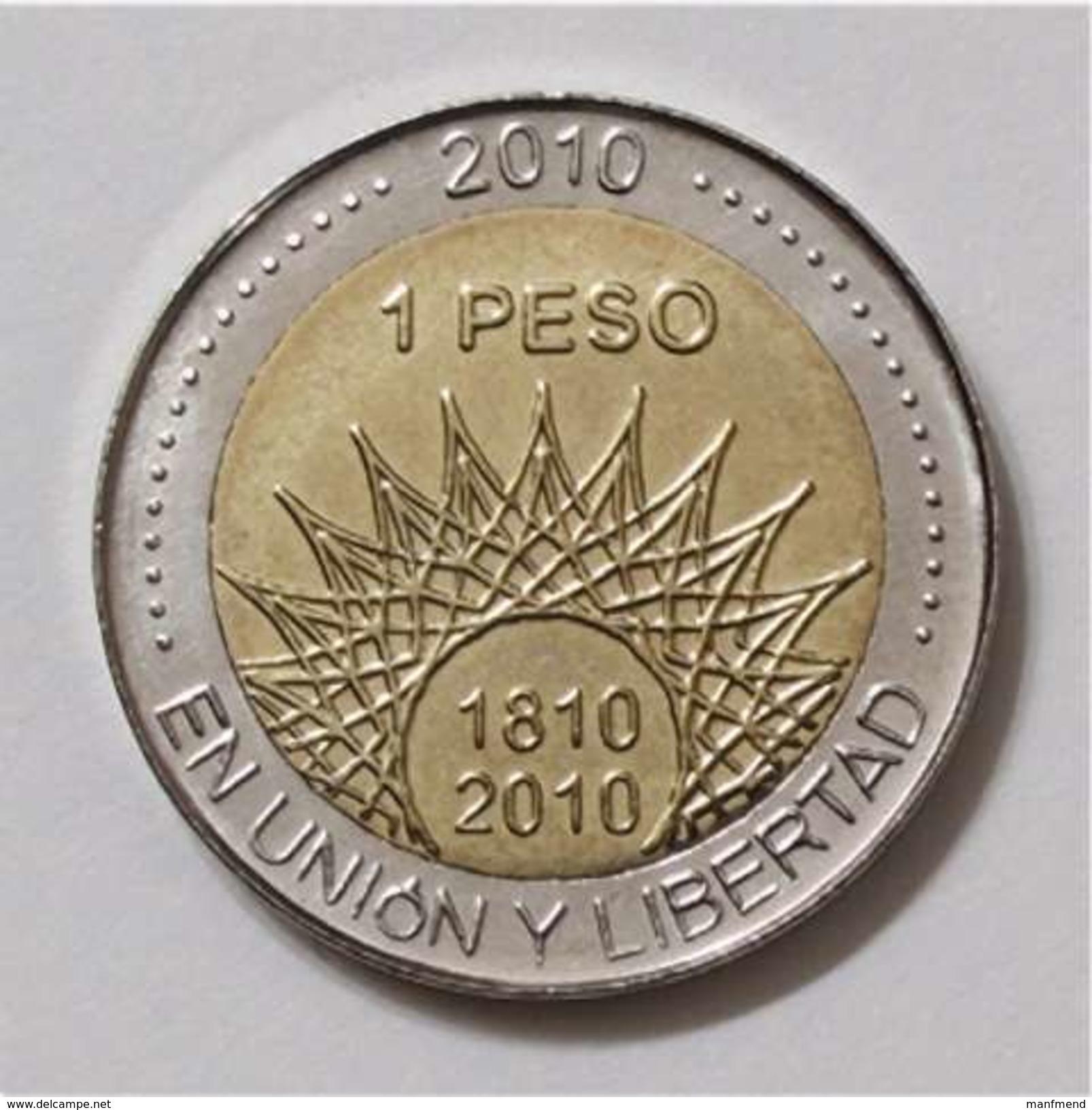 "Argentina - 2010 - 1 Peso - Bicentennial ""Mar Del Plata"" - KM 158 - Unc - Argentina"