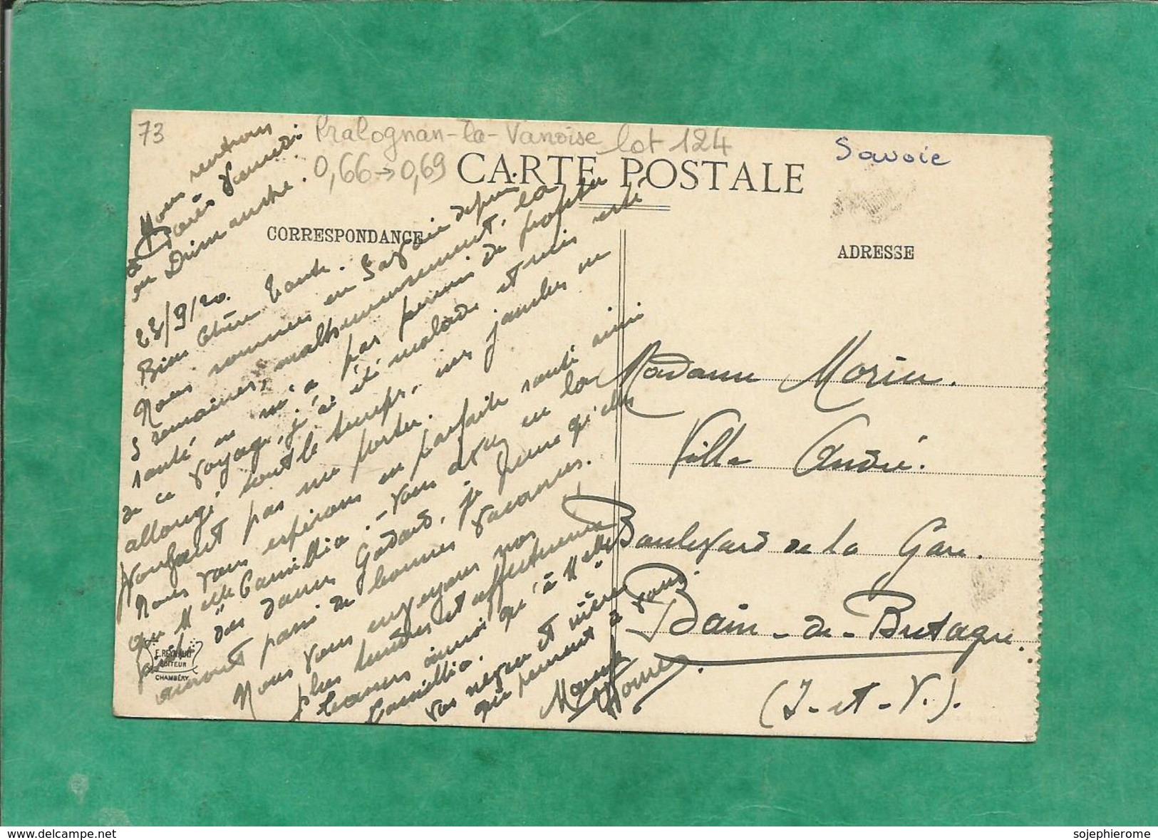 Pralognan-la-Vanoise (73-Savoie) Col De La Vanoise Le Refuge Félix-Faure Et La Pointe De La Glière 2 Scans 1920 - Pralognan-la-Vanoise