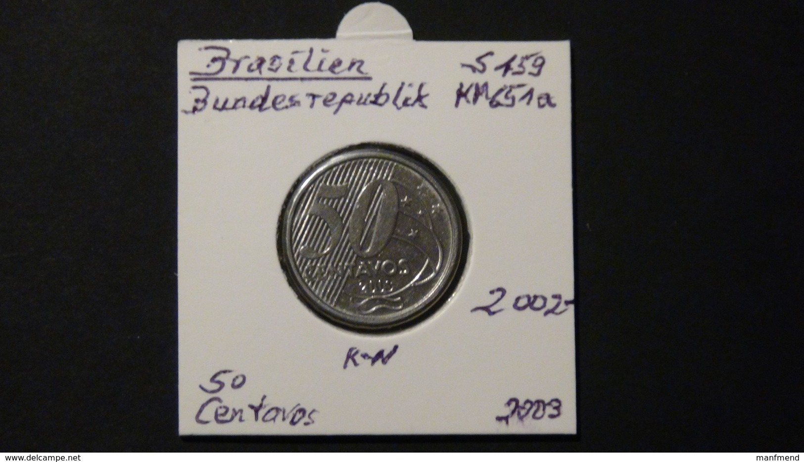 Brazil - 2003 - 50 Centavos - KM 651 - VF - Brasilien