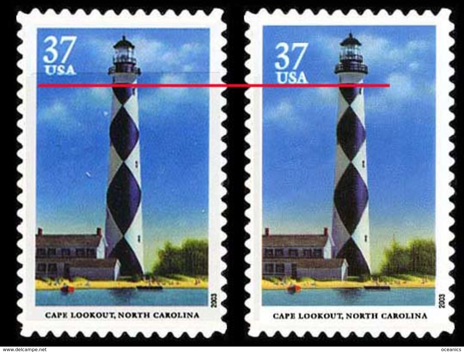 Etats-Unis / United States (Scott No.3791 - Southeastern Lighthousese)+ [**] NOTE - Unused Stamps