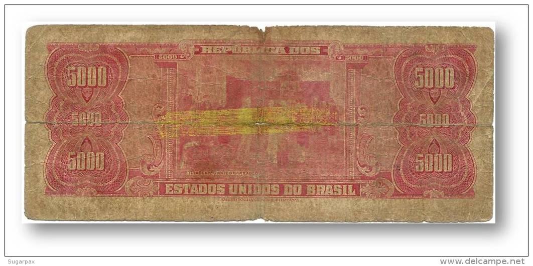 BRASIL - 5 CRUZEIROS NOVOS - ND ( 1967 ) - P 188.b - Sign. 15 - Serie 2699.ª - Estampa 1A - TIRADENTES - Brasil