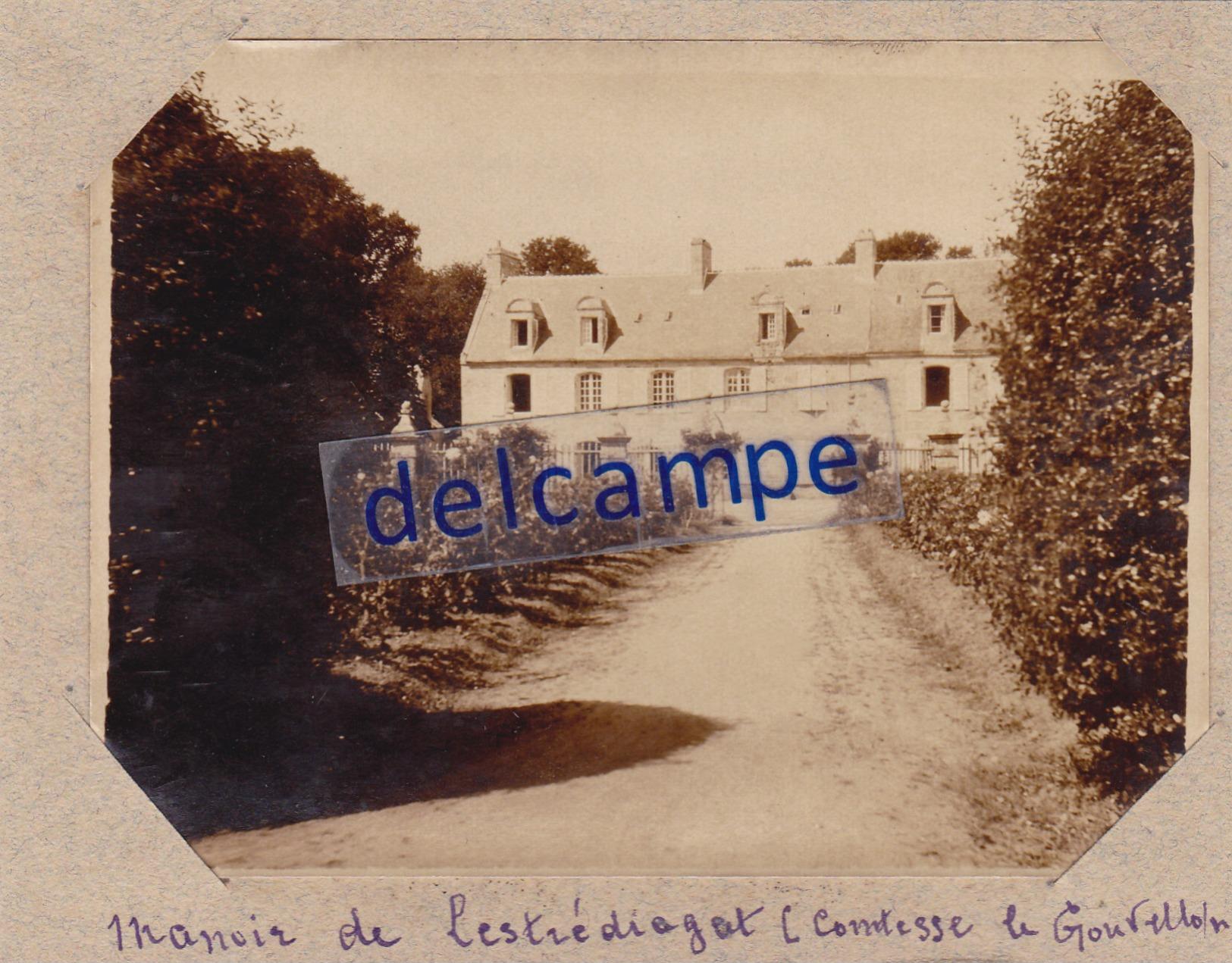 Photo Originale Du Château De LESTREDIAGAT Années 1920 ( Finistère ) - Lieux